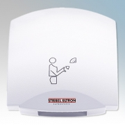 Stiebel Eltron 073008 HTE5 Alpine White Die-Cast Aluminium Economy Automatic Hand Dryer IPX23 1.8kW