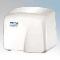 Deta 1006 White ABS Light Duty Automatic No Touch Hand Dryer 1.9kW 230V