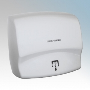 Greenbrook HDM2400 White Cast Aluminium Automatic Hand Dryer IP21 2.4kW