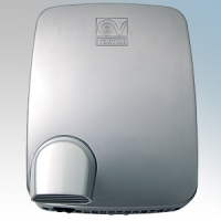 Vortice 19230 Metal Dry Ultra A Brushed Aluminium Automatic Heavy Duty Classic Styled Vandal Resistant Hand Dryer IPX4 1950W