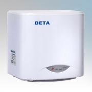 Deta 1016WH White Compact Low Energy Automatic No Touch Hand Dryer 1.1kW 230V