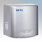 Deta 1016SL Silver Compact Low Energy Automatic No Touch Hand Dryer 1.1kW 230V