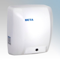 Deta 1019WH White Steel Heavy Duty Vandal Resistant Low Energy Automatic No Touch Hand Dryer 1.8kW 230V
