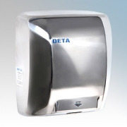Deta 1019CH Polished Chrome Steel Heavy Duty Vandal Resistant Low Energy Automatic No Touch Hand Dryer 1.8kW 230V