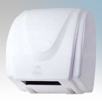 Hyco HD1800 Hurricane White Steel Automatic No Touch Hand Dryer 1.8kW 230V