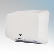 Hyco JETS10W Jetstream Slimline White Steel Compact High Speed Automatic Vandal Resistant Hand Dryer IP23 1kW
