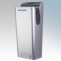 Vent-Axia 409117 JetDry Plus Silver Polycarbonate Double Sided High Speed Blade Type Hand Dryer IPX4 0.9kW - 1.3kW