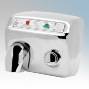 Warner Howard A48SS Classic Polished Stainless Steel Heavy Duty Manual Pushbutton Hand Dryer 2.3kW 240V