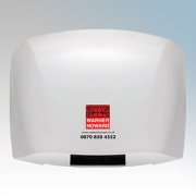 Warner Howard 136484 SM48 White Die-Cast Aluminium Automatic No Touch Hand Dryer 1.8kW 230V