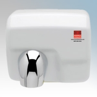Warner Howard BC0104 MR48 White Steel Heavy Duty Automatic No Touch Hand Dryer 2.5kW 240V