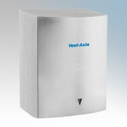 Vent-Axia 439464 Tempest Satin Stainless Steel Heavy Duty Low Energy Automatic No Touch Hand Dryer 450W-900W 240V