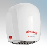 Warner Howard BC0323 Airforce White Die-Cast Aluminium Low Energy Automatic Hand Dryer With Antimicrobial Coating IP24 1.1kW