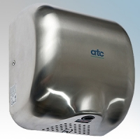 ATC Z-2281M Cheetah Brushed Stainless Steel Automatic Low Energy Vandal Resistant Hand Dryer IPX1 1475W
