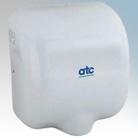 ATC Z-2281W Cheetah White Painted Steel Automatic Low Energy Vandal Resistant Hand Dryer IPX1 1475W