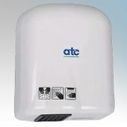 ATC Z-1651W Cub White ABS Plastic Economy Automatic Hand Dryer IPX1 1.4kW