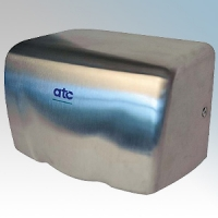 ATC Z-2000M Puma Brushed Stainless Steel Automatic Low Energy High Speed Hand Dryer IPX1 0.5kW - 1.15kW