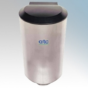 ATC Z-2651M Cub Brushed Stainless Steel Automatic Low Energy High Speed Hand Dryer IPX1 500W - 1150W