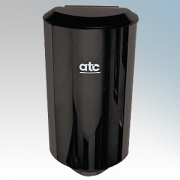 ATC Z-2651BL Cub Black Painted Steel Automatic Low Energy High Speed Hand Dryer IPX1 500W - 1150W