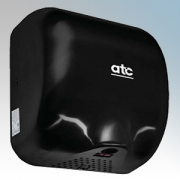 ATC Z-2281BL Cheetah Black Painted Steel Automatic Low Energy Vandal Resistant Hand Dryer IPX1 1475W