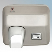 EnviroVent SL-2500N Brushed Chrome Manual Pushbutton Classic Styled Vandal Resistant Hand Dryer IPX1 2.5kW