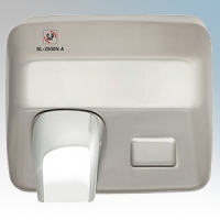 EnviroVent SL-2500NA Brushed Chrome Automatic Classic Styled Vandal Resistant Hand Dryer IPX1 2.5kW