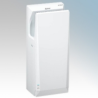 Mitsubishi JT-SB216KSN2-W-NE Jet Towel Slim White ABS Plastic Automatic Low Energy Blade Type Hand Dryer IPX4 550W - 720W