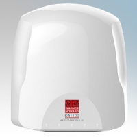 Warner Howard 091184 SR1100H White ABS Plastic Premium Low Energy Slimline Automatic Hand Dryer With HEPA Filters IP24 1.1kW