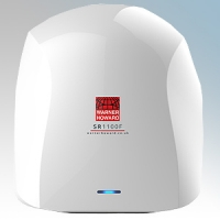 Warner Howard 091219 SR1100F White ABS Plastic Premium Low Energy Slimline Automatic Hand Dryer With Standard Filters IP24 1.1kW