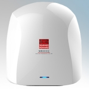 Warner Howard 091222 SR800Q White ABS Plastic Low Noise Low Energy Slimline Automatic Hand Dryer With Antimicrobial Coating IP24