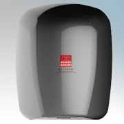 Warner Howard 091228 EL1100W Nickel ABS Plastic Low Energy High Speed Slimline Automatic Hand Dryer With Antimicrobial Coating I