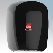 Warner Howard 091229 EL1100W Black ABS Plastic Low Energy High Speed Slimline Automatic Hand Dryer With Antimicrobial Coating IP