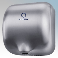 BlueDry BD1000BS BD1000 Brushed Stainless Steel Automatic Low Energy High Speed Vandal Resistant Hand Dryer IPX1 0.55kW - 1.8kW