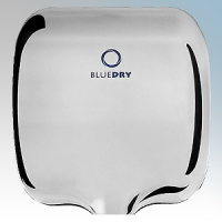 BlueDry BD1000PS BD1000 Polished Stainless Steel Automatic Low Energy High Speed Vandal Resistant Hand Dryer IPX1 0.55kW - 1.8kW