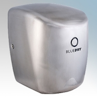 BlueDry BD1015BS BD1015 Brushed Stainless Steel Automatic Low Energy High Speed Hand Dryer With Adjustable Heat Control IPX1 0.55kW - 1.35kW