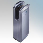 BlueDry BD1091S BD1091 Silver ABS Plastic Automatic Low Energy Blade Type Hand Dryer IPX1 0.7kW - 1.65kW