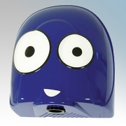 Biodrier BB08-2 Biobot 2 Blue Die-Cast Aluminium Compact Low Energy Child Friendly Automatic Hand Dryer 0.9kW