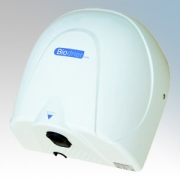 Biodrier BE08W Eco White Die-Cast Aluminium Low Energy Compact Automatic Hand Dryer 0.9W