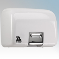 Airdri Quarto White Die-Cast Aluminium Automatic Heavy Duty Classic Styled Vandal Resistant Hand Dryer 2kW