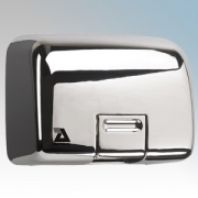 Airdri Quarto Polished Chrome Die-Cast Aluminium Automatic Heavy Duty Classic Styled Vandal Resistant Hand Dryer 2kW
