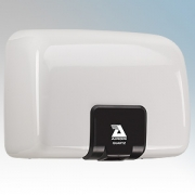 Airdri Quartz White Die-Cast Aluminium Automatic Heavy Duty Low Noise Classic Styled Vandal Resistant Hand Dryer 1.4kW