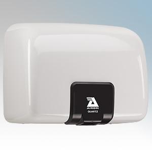 Airdri Quartz White Die-Cast Aluminium Automatic Heavy Duty Low Noise Classic Styled Vandal Resistant Hand Dryer 1.4kW