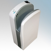 Veltia VUKBL001 V7 Tri-Blade Snow White ABS Plastic Low Energy High Speed Blade Type Hand Dryer With Triple Air Blade 1.76kW