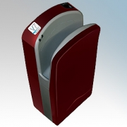 Veltia VUKBL003 V7 Tri-Blade Bordeaux Red ABS Plastic Low Energy High Speed Blade Type Hand Dryer With Triple Air Blade 1.76kW