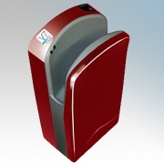 Veltia VUKBL005 V7 Tri-Blade Cherry Red ABS Plastic Low Energy High Speed Blade Type Hand Dryer With Triple Air Blade 1.76kW