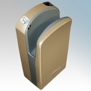 Veltia VUKBL006 V7 Tri-Blade Champagne ABS Plastic Low Energy High Speed Blade Type Hand Dryer With Triple Air Blade 1.76kW