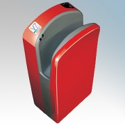 Veltia VUKBL007 V7 Tri-Blade Red F1 ABS Plastic Low Energy High Speed Blade Type Hand Dryer With Triple Air Blade 1.76kW