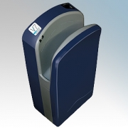 Veltia VUKBL008 V7 Tri-Blade Deep Blue ABS Plastic Low Energy High Speed Blade Type Hand Dryer With Triple Air Blade 1.76kW