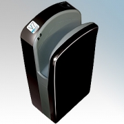 Veltia VUKBL009 V7 Tri-Blade Black ABS Plastic Low Energy High Speed Blade Type Hand Dryer With Triple Air Blade 1.76kW