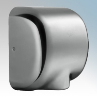 Stream Hygiene 4603 Windsor Polished Steel Automatic Low Energy Vandal Resistant Hand Dryer With Adjustable Heat Control IPX1 550W - 1400W
