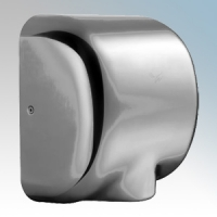 Stream Hygiene 4604 Windsor Brushed Steel Automatic Low Energy Vandal Resistant Hand Dryer With Adjustable Heat Control IPX1 550W - 1400W